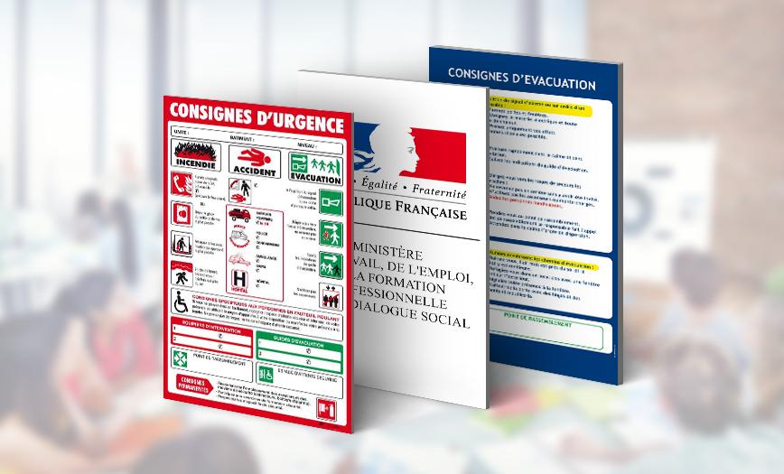 Exemple d'affichage obligatoire dans les entreprises
