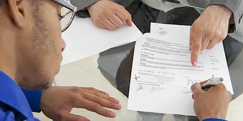 Signature contrat stage