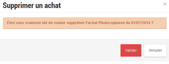 Achat suppression