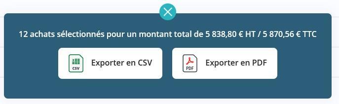 Achats export module