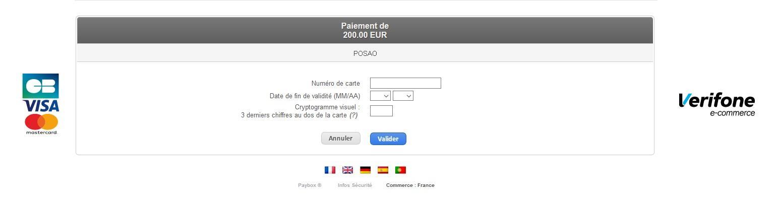 Ecran paybox