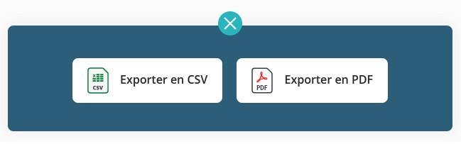 Export csv pdf
