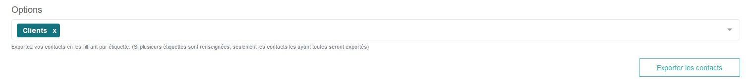 Export etiquettes