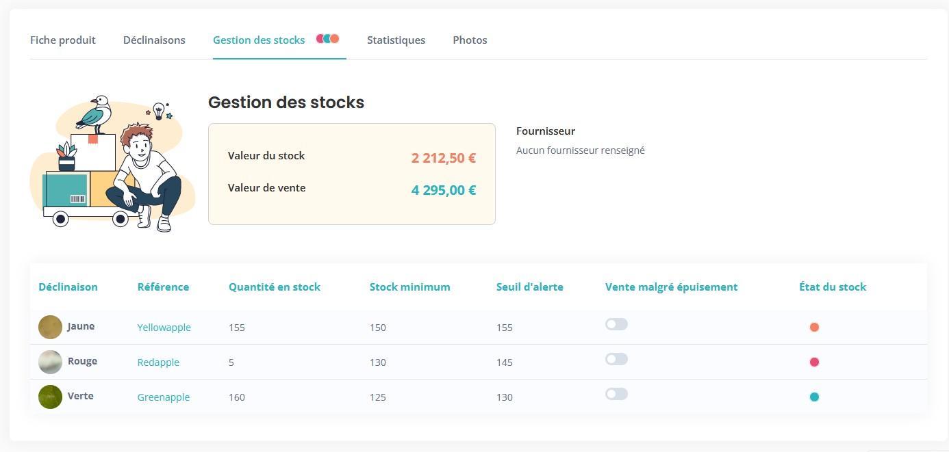Gestion stock etat