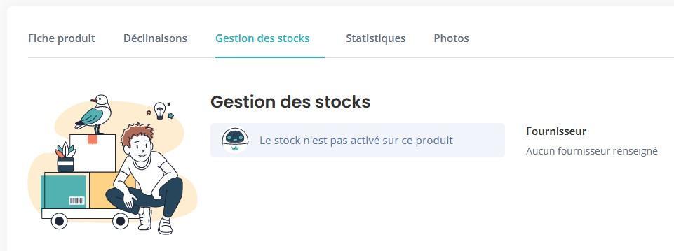 Gestion stock non renseigne