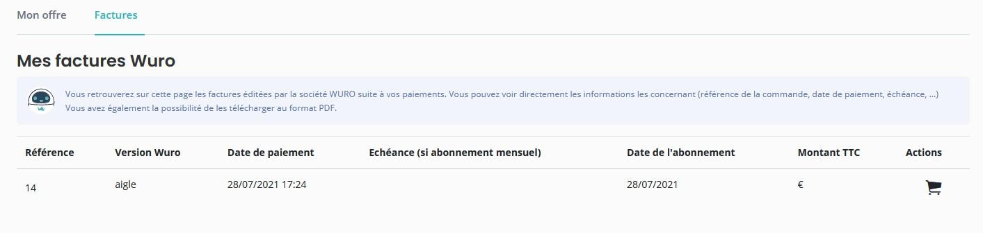 Mes factures offre