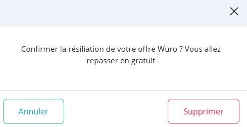 Resilier offre wuro 1