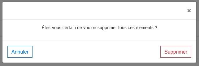 Supprimer plusieurs contacts