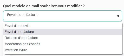 Types mails
