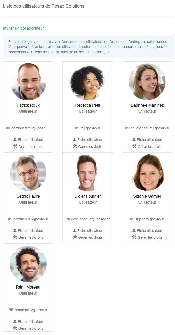 Utilisateurs exemple posao