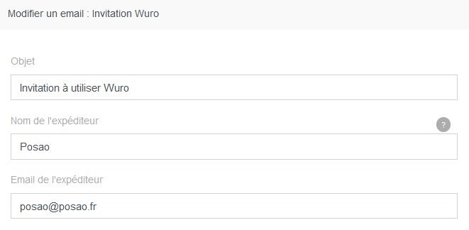 Utiliser wuro mail nom email